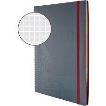 AVERY ZWECKFORM Notizbuch notizio 7017 mit Kunststoffcover DIN A4 90 Blatt 90g/m² kariert grau