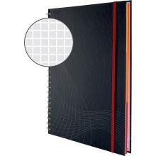 AVERY ZWECKFORM Notizbuch notizio 7025 mit Hardcover DIN A4 90 Blatt 90g/m² kariert dunkelgrau