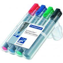 STAEDTLER Flipchartmarker 356B WP4 mit Keilspitze 4 Stück mehrere Farben