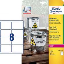 AVERY ZWECKFORM Wetterfeste Etiketten L4715-20 160 Stück 99,1 x 67,7 mm weiß
