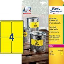 AVERY ZWECKFORM Wetterfeste Etiketten L6127-20 80 Stück 99,1 x 139 mm gelb