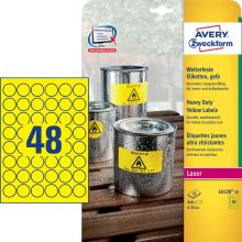 AVERY ZWECKFORM Wetterfeste Etiketten L6128-20 960 Stück Ø 30 mm gelb