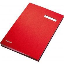 ESSELTE Unterschriftenmappe 6210 A4 mit 20 Fächern rot