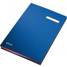 ESSELTE Unterschriftenmappe 6210 A4 mit 20 Fächern blau