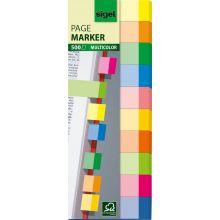 SIGEL Haftmarker Multicolor 5 x 1,5 cm 500 Stück mehrere Farben
