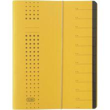 ELBA Ordnungsmappe 1112 A4 mit 12 Fächern gelb