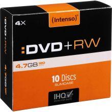 INTENSO DVD+RW 10 Stück im Slim Case