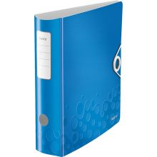 LEITZ Ordner WOW 1106 A4 8,2 cm blau-metallic