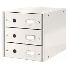 LEITZ Schubladenbox Click & Store 6048 mit 3 Schubladen weiß
