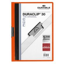 DURABLE Klemmmappe Duraclip DIN A4 orange