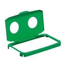 DURABLE Klappdeckel Durabin Hinged Lid mit 2 Öffnungen grün