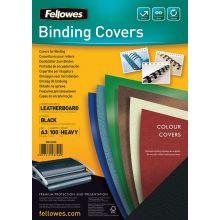 FELLOWES Deckblatt 5374401 Delta 100 Stück A3 Stück schwarz