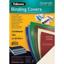 FELLOWES Deckblatt 5374001 Delta 100 Stück A3 Stück elfenbein