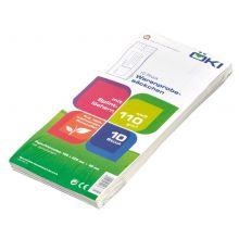 ÖKI Warenprobesack mit Aufdruck 10 Stück 105 x 225 mm weiß