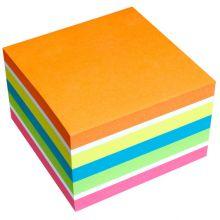 INFO NOTES Haftnotiz Würfel 75 x 75 mm 450 Blatt Neon-Mix