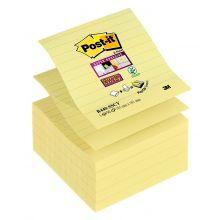 POST-IT Haftnotiz Super Sticky Z-Notes XL R440 5 Blöcke gelb