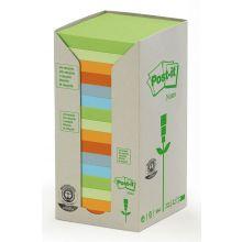 POST-IT Recycling Haftnotizen 654-1RPT 76 x 76 mm 16 Stück Pastelltöne