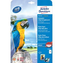 AVERY ZWECKFORM Inkjet Fotopapier 2556-15P DIN A4 30 Blatt 250 g/m² hochglänzend weiß