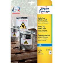AVERY ZWECKFORM Wetterfeste Etiketten J4773-10 240 Stück 65,3 x 33,9 mm weiß