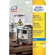 AVERY ZWECKFORM Wetterfeste Etiketten J4775-10 10 Stück 210 x 297 mm weiß