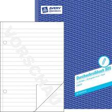 AVERY ZWECKFORM Durchschreibbuch 905 mit Blaupapier DIN A4 2x50 Blatt liniert
