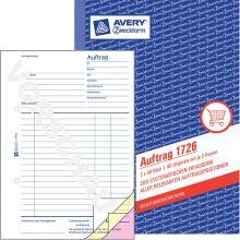 AVERY ZWECKFORM Auftrag 1726 DIN A5 3x40 Blatt selbstdurchschreibend