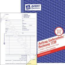 AVERY ZWECKFORM Auftrag/Lieferschein/Rechnung 1739 DIN A5 2x40 Blatt selbstdurchschreibend