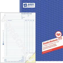 AVERY ZWECKFORM Stundennachweis 1773 DIN A4 2x40 Blatt selbstdurchschreibend