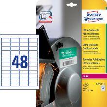AVERY ZWECKFORM Ultra-Resistente Etiketten L7911-10 480 Stück 45,7 x 21,2 mm weiß