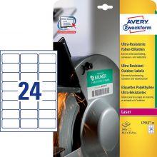 AVERY ZWECKFORM Ultra-Resistente Etiketten L7912-10 240 Stück 63,5 x 33,9 mm weiß