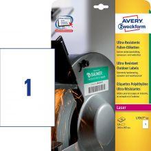 AVERY ZWECKFORM Ultra-Resistente Etiketten L7917-10 10 Stück 210 x 297 mm weiß