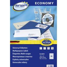 EUROPE100 Universaletiketten ELA001 38 x 21,2 mm 6.500 Etiketten weiß