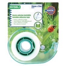 EUROCEL Klebefilm Invisible mit Abroller 19 mm x 25 m transparent