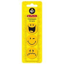 HERLITZ Flachmagnete SmileyWorld rund 6 Stück gelb