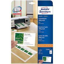 AVERY ZWECKFORM Visitenkarten C32011-25 250 Stück 85 x 54 mm mattweiß