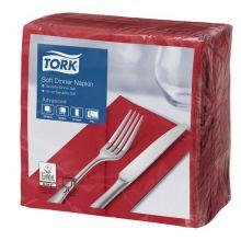 TORK Dinnerservietten 100 Stück 3-lagig 39x39cm bordeaux