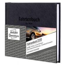 AVERY ZWECKFORM Fahrtenbuch für PKW 222D mit Hardcover DIN A6 quer 48 Blatt schwarz