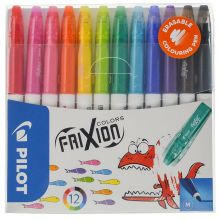 PILOT Filzstifte 4144 Frixion Color 12 Stück mehrere Farben