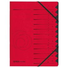 HERLITZ Ordnungsmappe 1-12 Colorspan rot