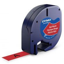 DYMO Letra-Band 12 mm x 4 m Plastik rot