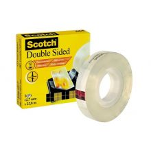 SCOTCH Doppelseitiges Klebeband 1 Rolle 12,7 mm x 22,8 m transparent