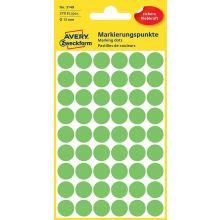 AVERY ZWECKFORM Markierungspunkte 3149 270 Stück permanent Ø 12 mm leuchtgrün