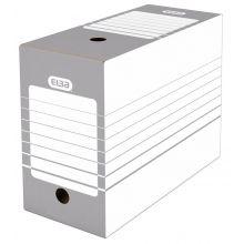 ELBA Archivbox A4 faltbar weiß/grau