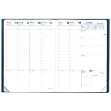 QUO VADIS Kalender Prenote A4 1 Woche auf 2 Seiten 2020 sortiert