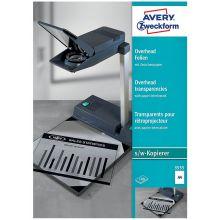 AVERY ZWECKFORM Overheadfolien 3555 DIN A4 100 Stück transparent