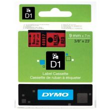 DYMO Beschriftungsband 40917 9 mm x 7 m rot/schwarz