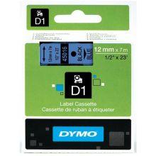 DYMO Beschriftungsband 45016 12 mm x 7 m schwarz/blau