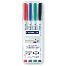STAEDTLER Whiteboardmarker Lumocolor 301 1 mm 4 Stück mehrere Farben