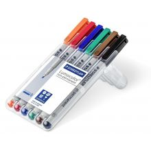 STAEDTLER OHP-Stift Lumocolor 312 non-permanent 1+2,5 mm 6 Stück mehrere Farben