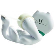 SCOTCH Handabroller Cat inklusive 1 Rolle SCOTCH Magic Klebeband weiß